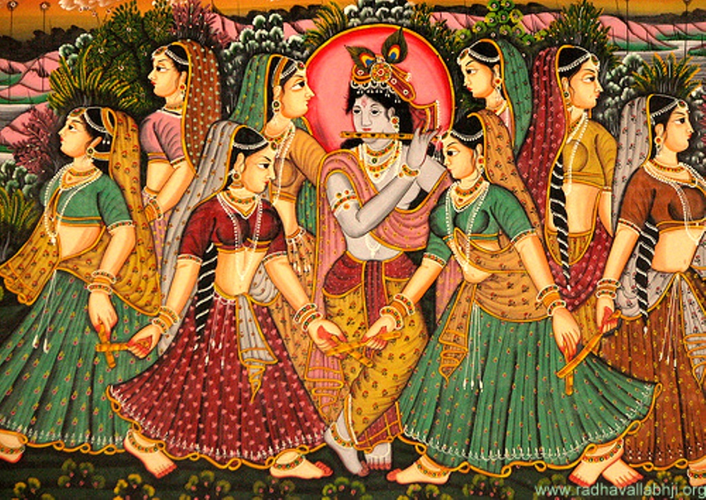 The Gopis Attracted by the Flute | Radhegovind